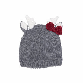 The Blueberry Hill The Blueberry Hill Baby Hat - Hartley Deer with Bow
