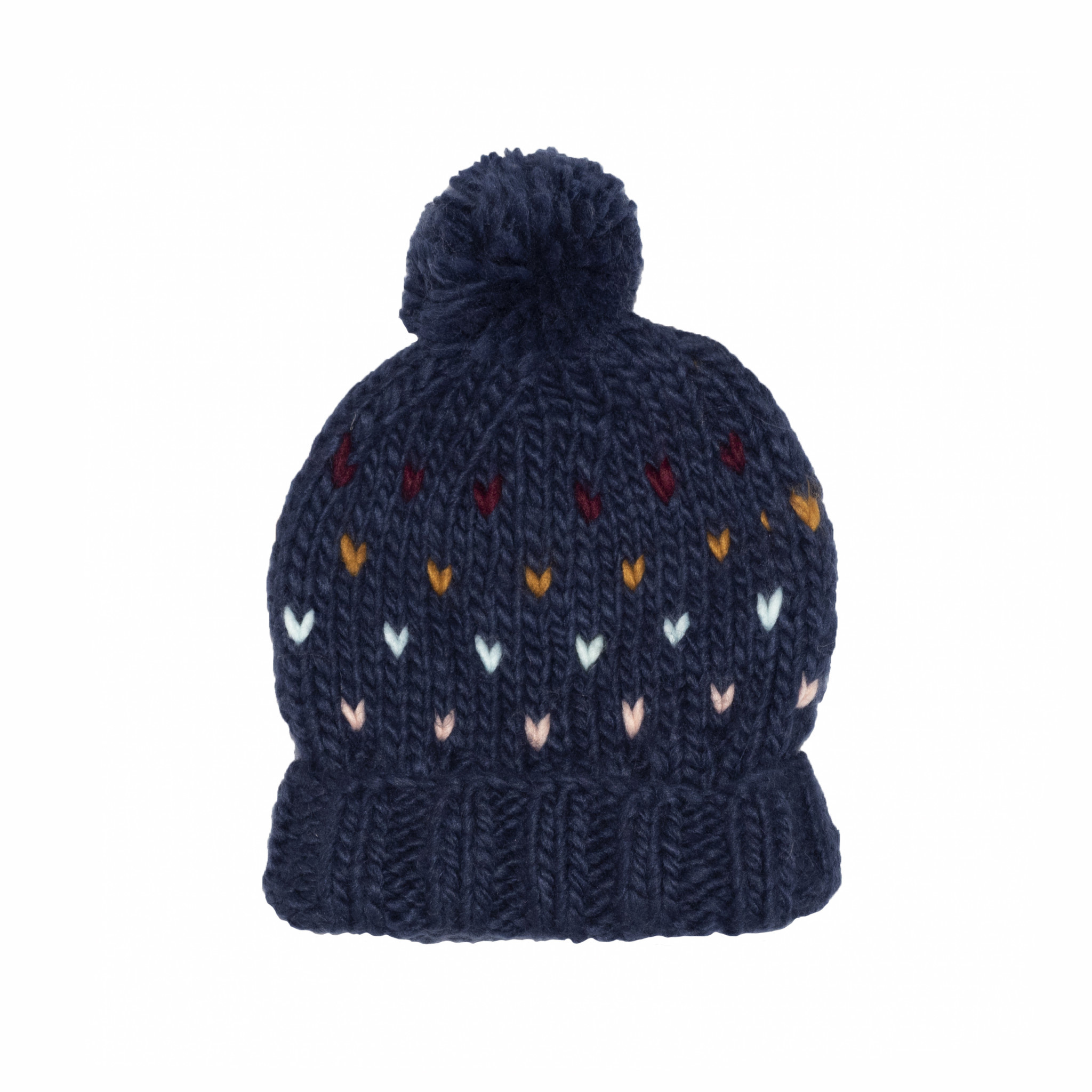 The Blueberry Hill Adult Sawyer Knit Hat - Navy - L