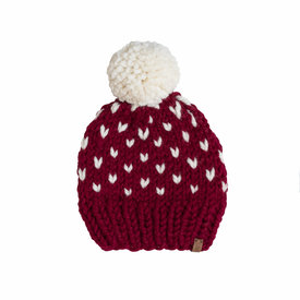 S. Lynch Knitwear S. Lynch Knitwear Baby Hat - Cranberry Fair Isle - 6-12M