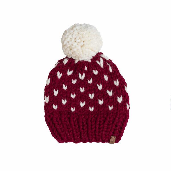 S. Lynch Knitwear S. Lynch Knitwear Baby Hat - Cranberry Fair Isle - 6-12M