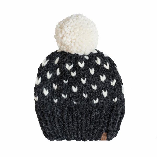 S. Lynch Knitwear S. Lynch Knitwear Adult Hat - Charcoal Fair Isle