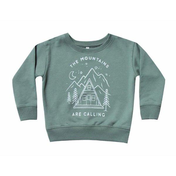 Rylee and Cru Rylee + Cru Mountains Are Calling Sweatshirt - Spruce