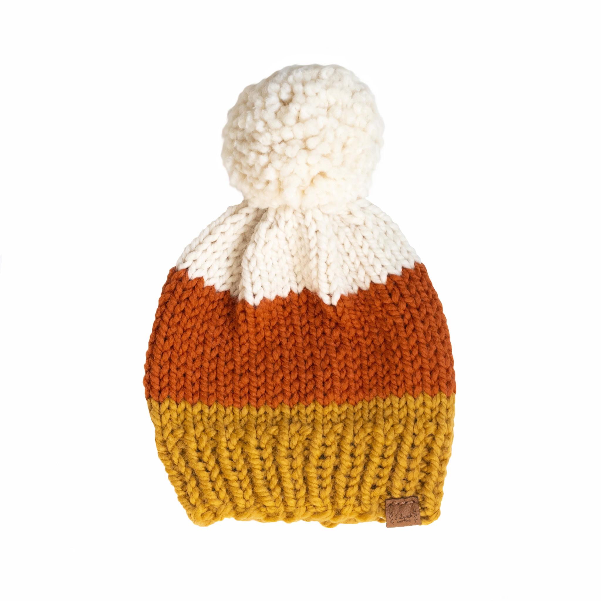 S. Lynch Knitwear S. Lynch Knitwear Baby Hat - Candy Corn - 6-12M
