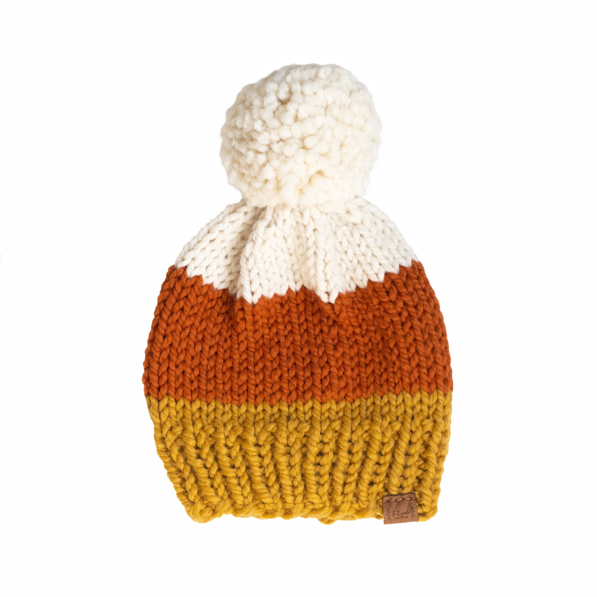 S. Lynch Knitwear Baby Hat - Candy Corn - 3-6M