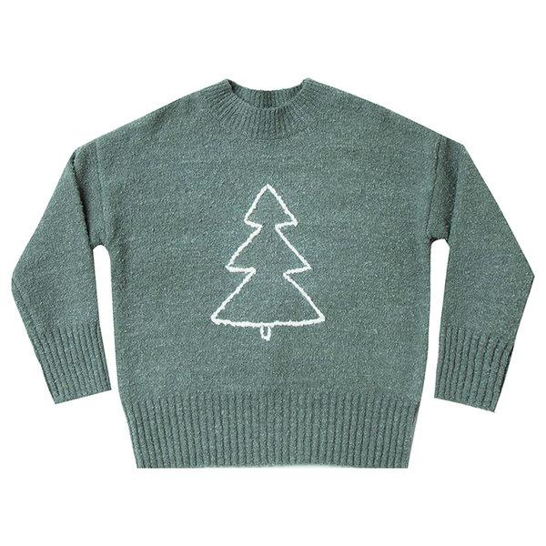 Rylee and Cru Rylee + Cru Adult Tree Cassidy Sweater - Spruce