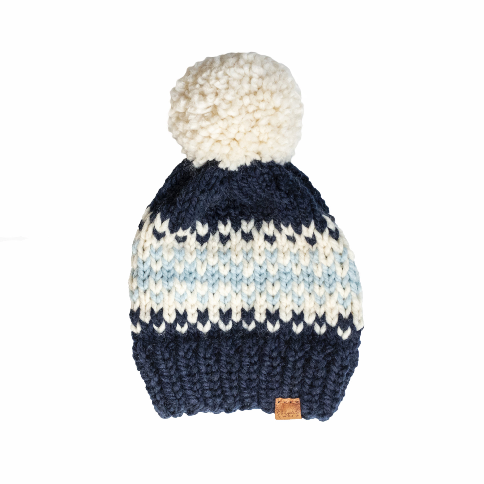 S. Lynch Knitwear Adult Hat - Daytrip Custom Navy Light Blue