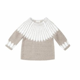 Rylee and Cru Rylee + Cru Chalet Sweater - Grey/Ivory