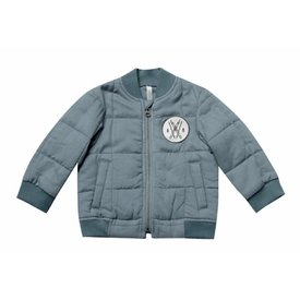 Rylee and Cru Rylee + Cru Quilted Bomber Jacket - Dusty Blue