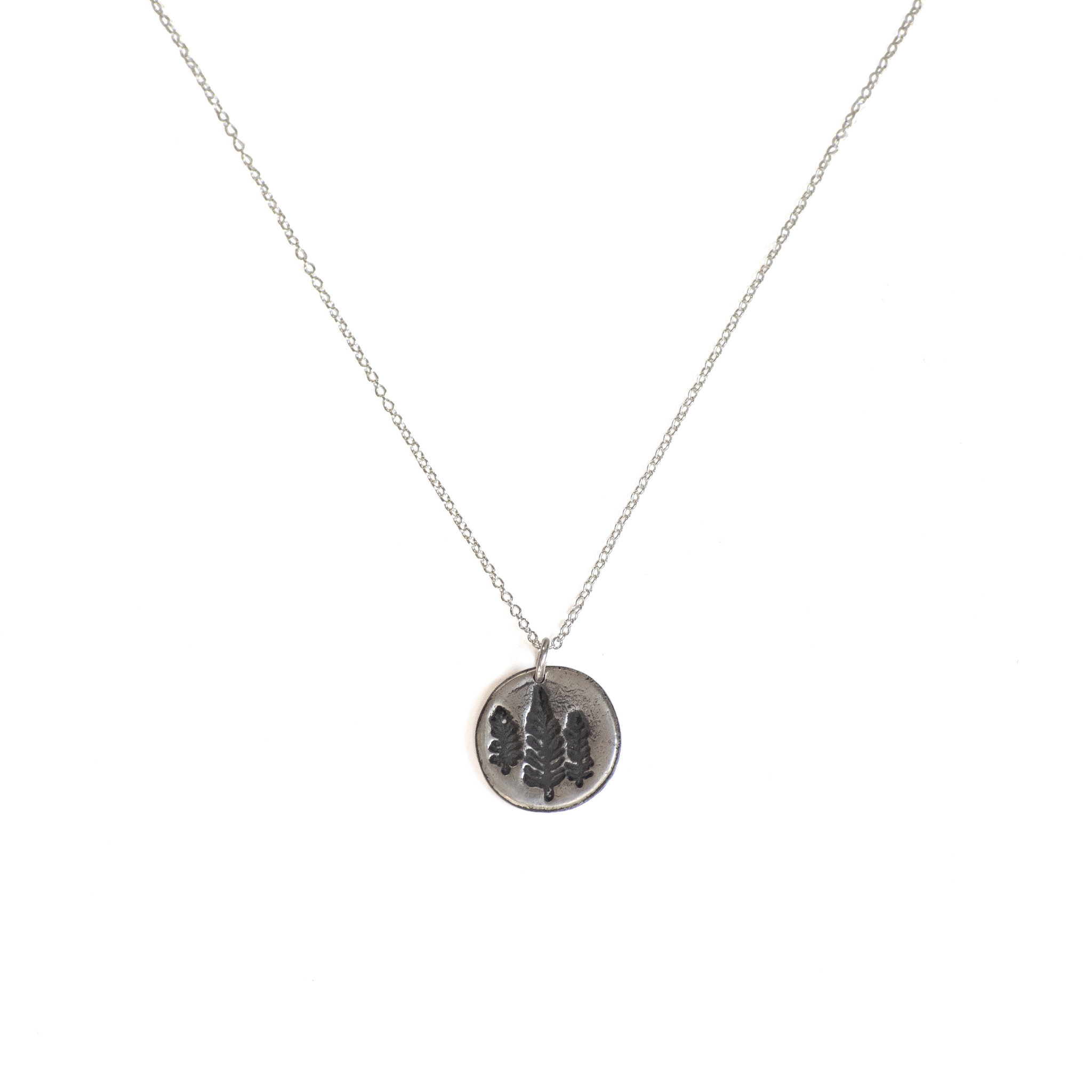 Emma Alexander Pine Tree State Necklace - Sterling Silver
