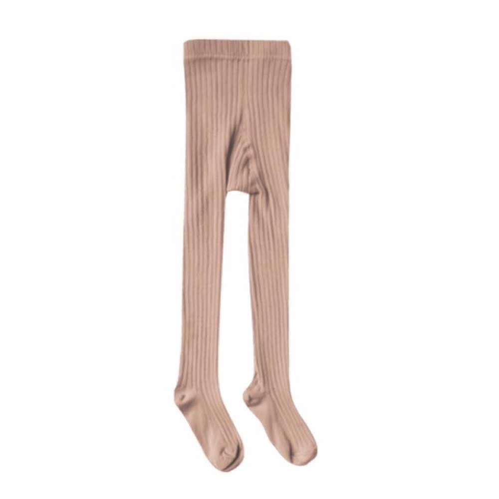 Rylee + Cru Solid Ribbed Tights - Truffle