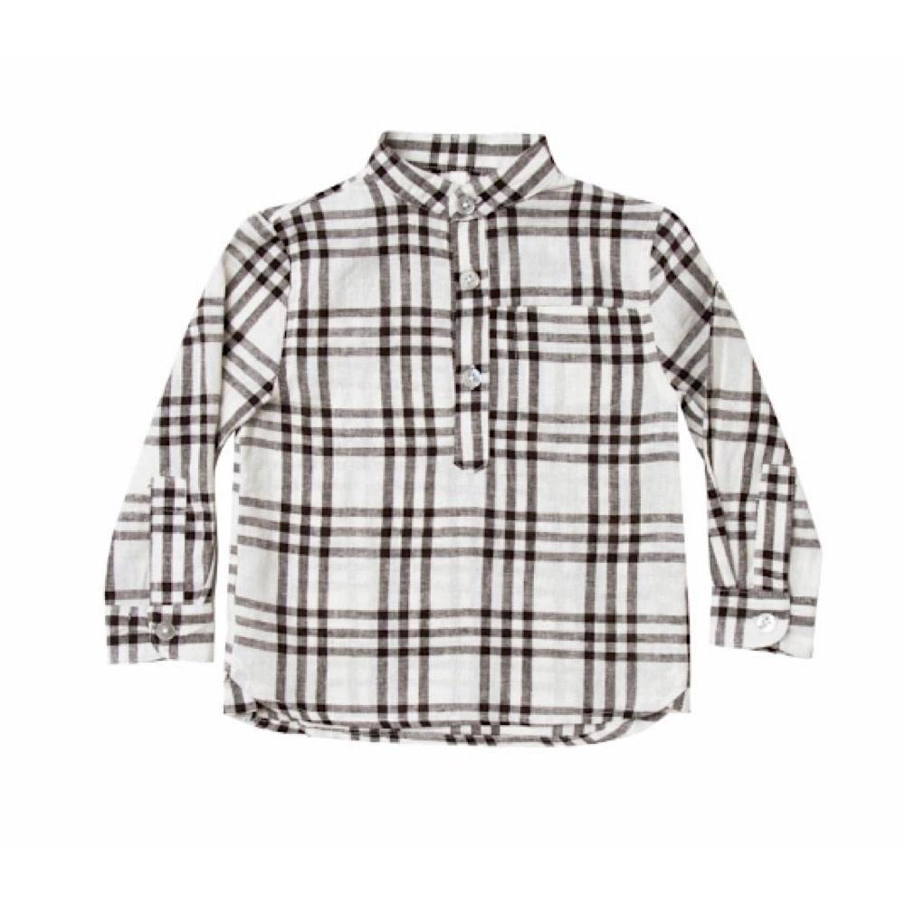 Rylee + Cru Check Mason Shirt - Black/Ivory