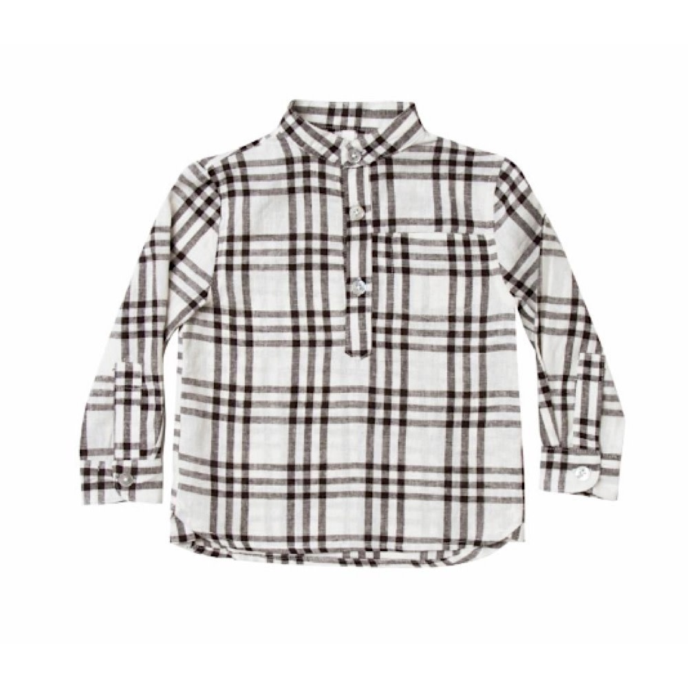 Rylee + Cru Rylee + Cru Check Mason Shirt - Black/Ivory