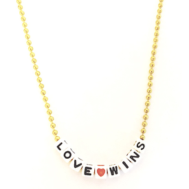 Little Lux Little Lux Love Wins Necklace