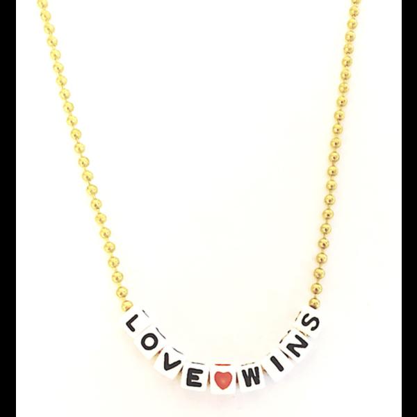 Little Lux Little Lux Love Wins Necklace