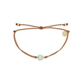 Pura Vida Pura Vida Charm Bracelet Chalcedony - Burnt Orange/Gold