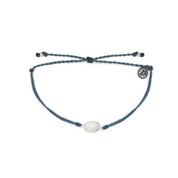 Pura Vida Pura Vida Charm Bracelet Moonstone - Mediterranean Green/Silver