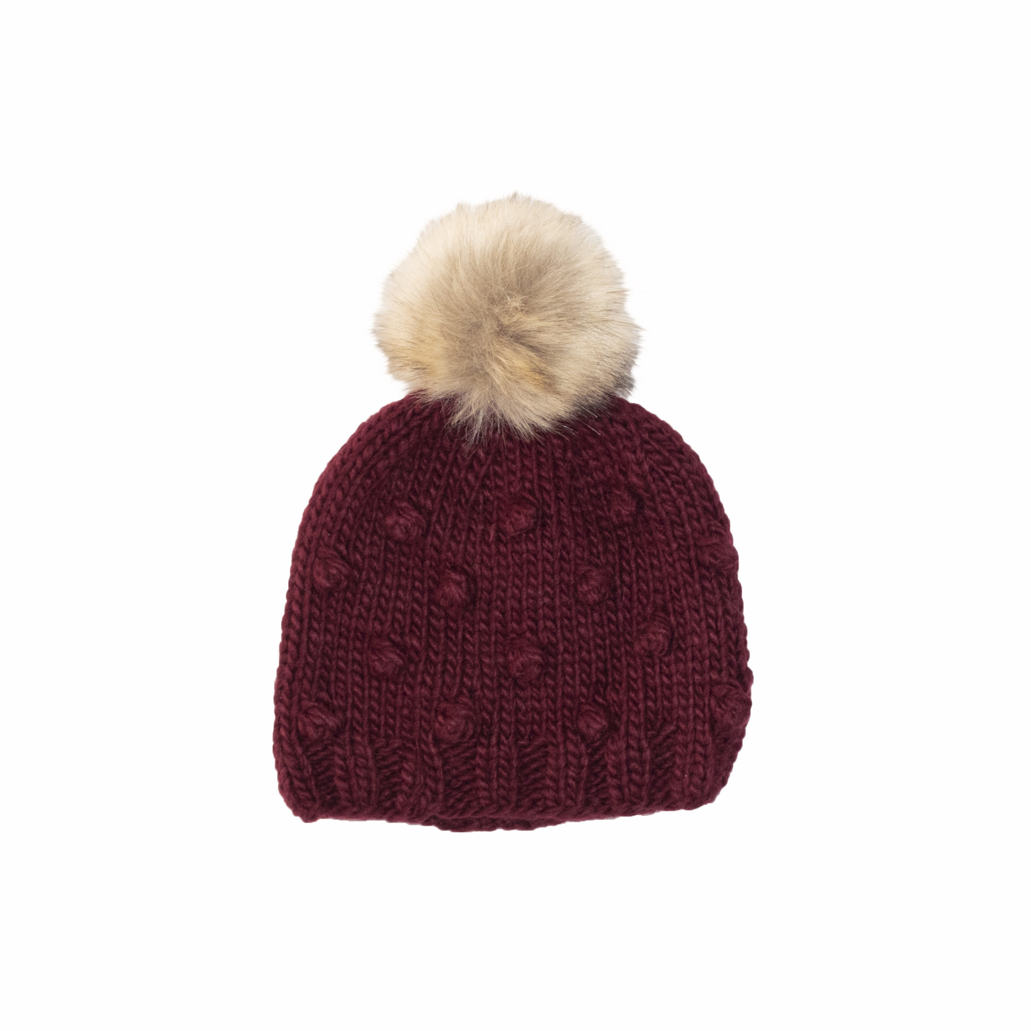 The Blueberry Hill The Blueberry Hill Adult Coco Knit Hat - Pomegranate - L
