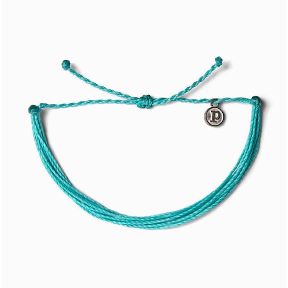 Pura Vida Original Bracelet - Classic Pacific Blue Solid
