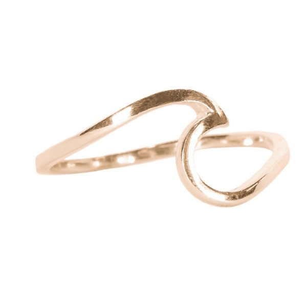 Pura Vida Pura Vida Wave Ring - Rose Gold