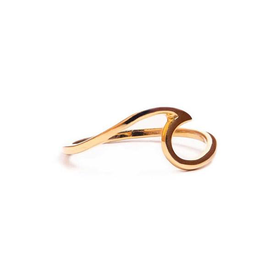 Pura Vida Pura Vida Wave Ring - Gold