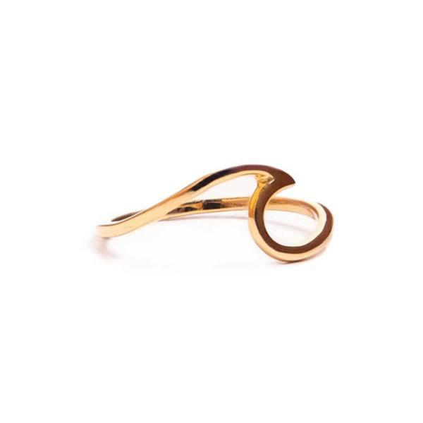 Pura Vida Pura Vida Wave Ring - Gold