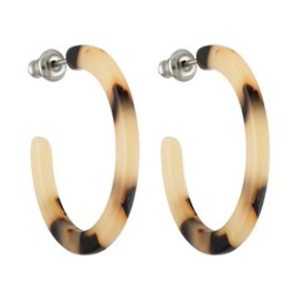 Machete Machete - Mini Hoop Earrings - Blonde Tortoise