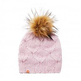 Sh*t That I Knit Sh*t That I Knit - Motley Beanie - Blush Pink - Faux Fur Pom
