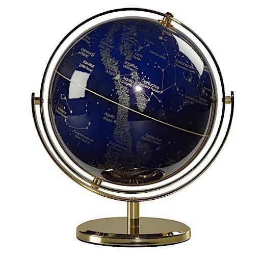 """Globe 8"""" - Swivel Stand -Night Sky"""