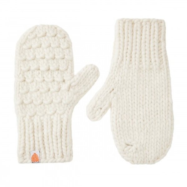 Shit That I Knit Shit That I Knit Gunn Mittens - White Lie