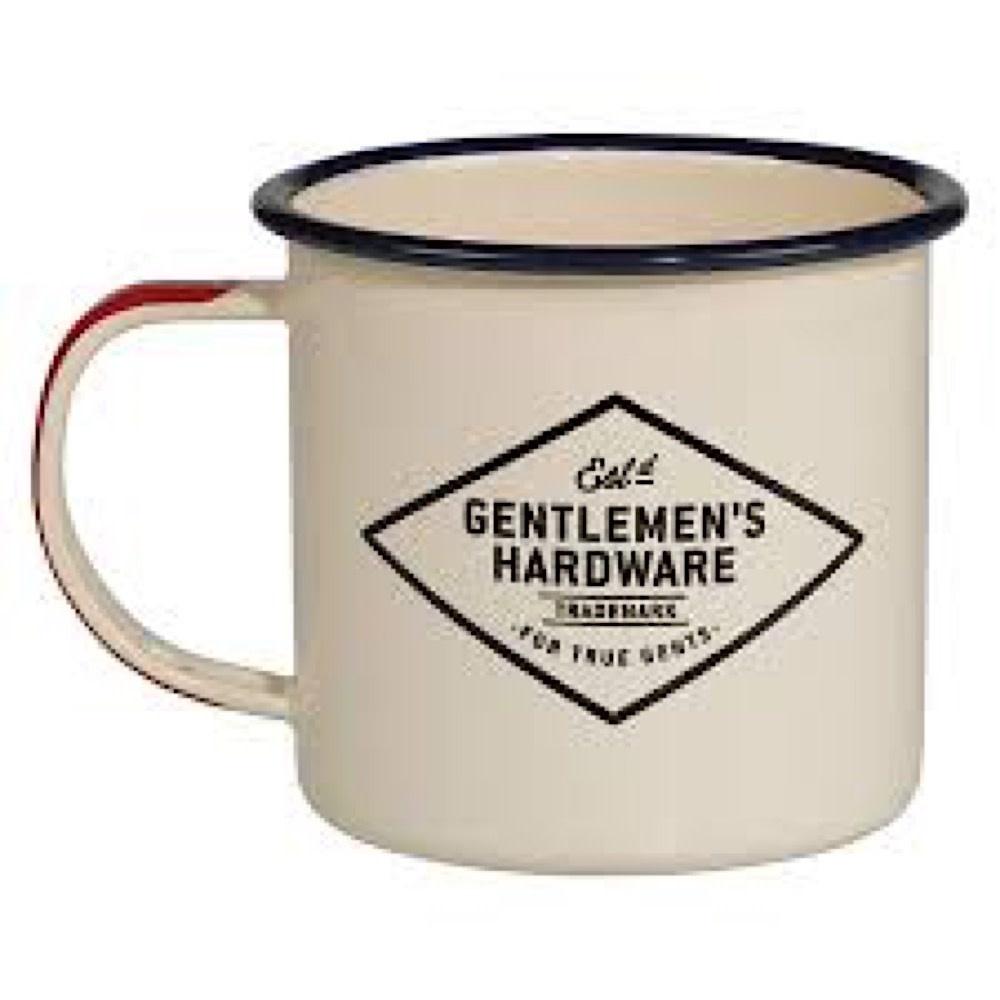 Gentlemen's Hardware Enamel Mug - Adventure Begins - Cream