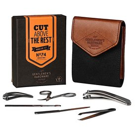 Wild & Wolf Gentlemen's Hardware - Manicure Kit - Charcoal