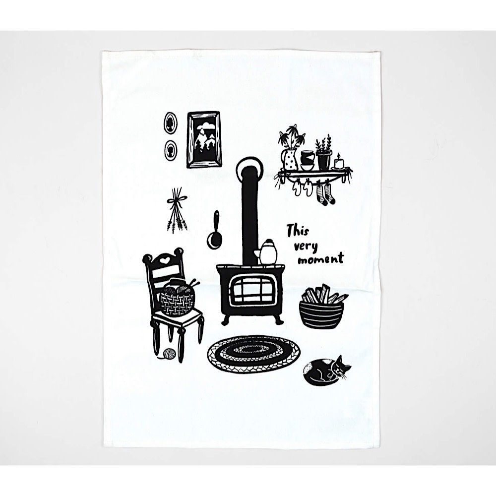 Buy Olympia Little Truths Tea Towel - Winter Hearth