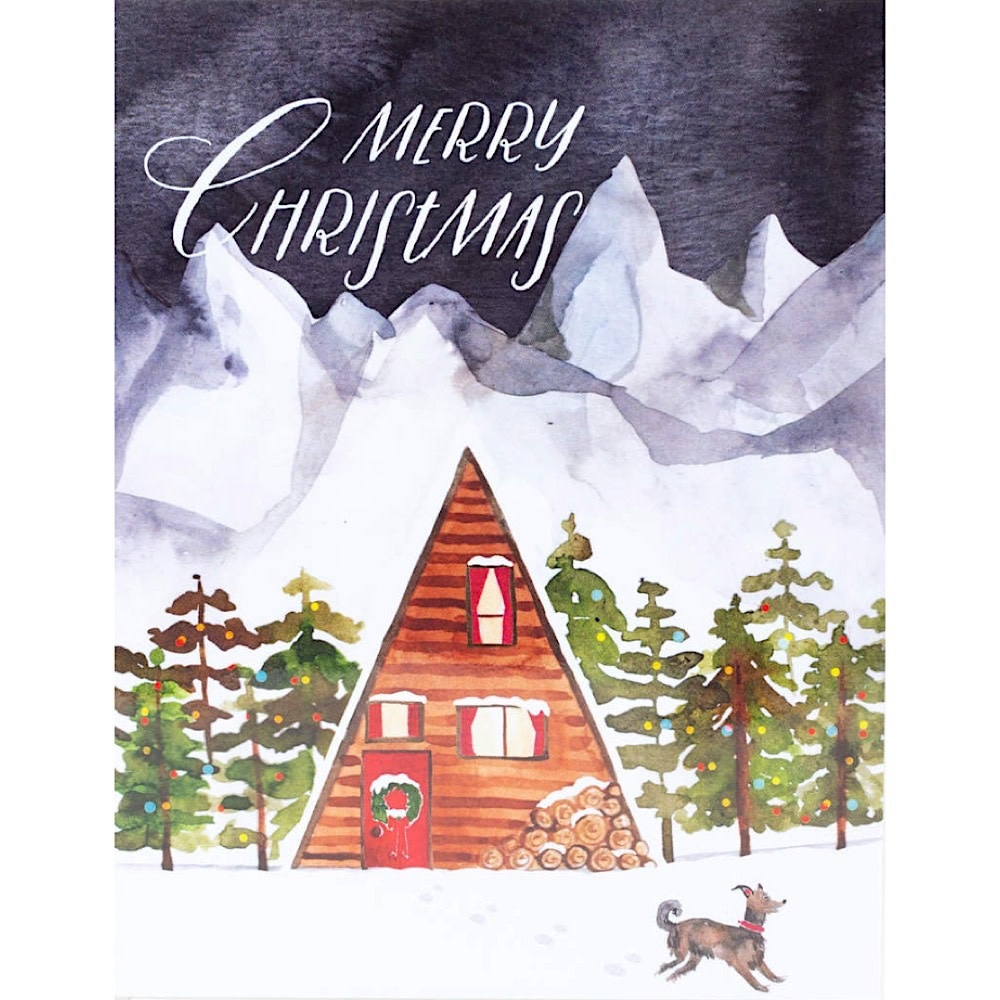 Loose Leaves Merry Christmas A-Frame Card