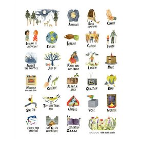 Buy Olympia Little Truths ABCs of Life Print - 11x14