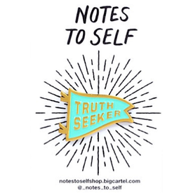 Buy Olympia Notes To Self - Truth Seeker Enamel Pin