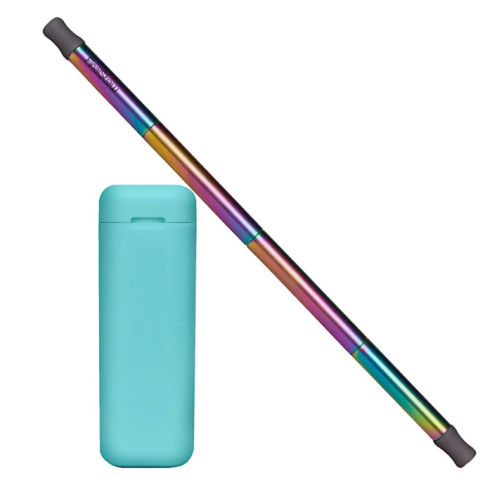 Final Straw Teal/Rainbow Straw