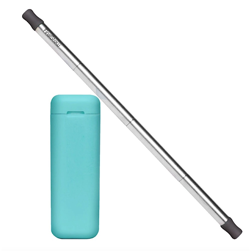 Final Straw Teal/Silver Straw