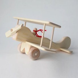 Maine Toys Wooden Red Baron Plane