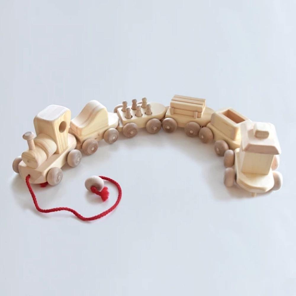 Maine Toys Wooden Choo Choo Train