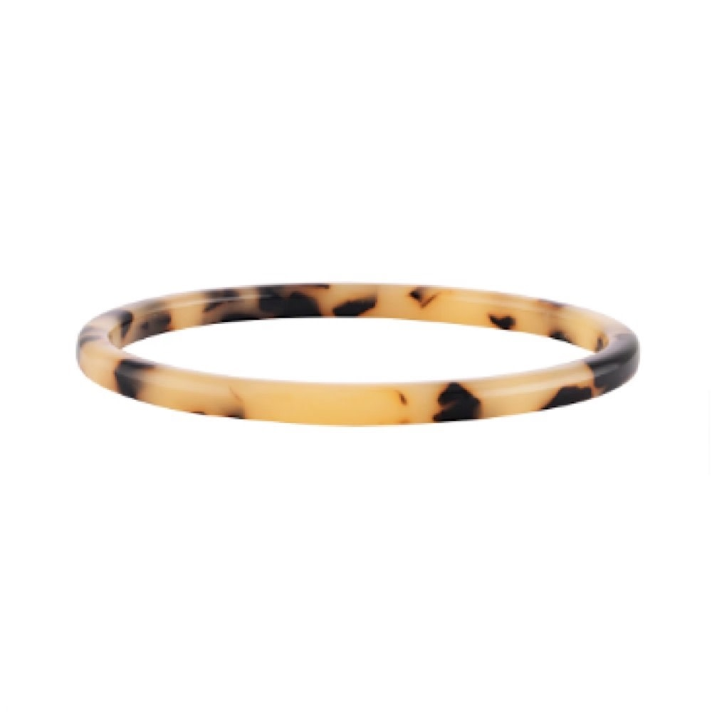 Machete Square Bangle - Blonde Tortoise