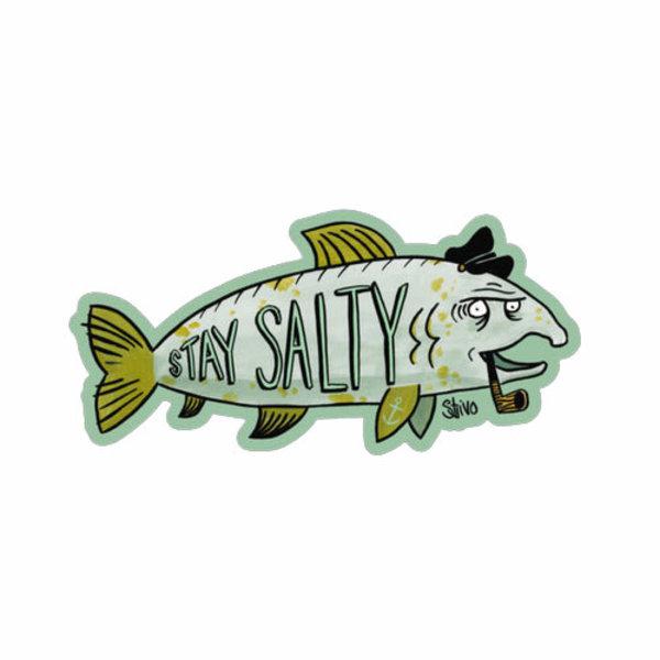 Salt & Soil Salt & Soil Stay Salty Fish Sticker
