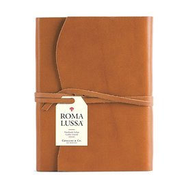 Cavallini Papers & Co., Inc. Cavallini Leather Roma Lussa Journal - Tan