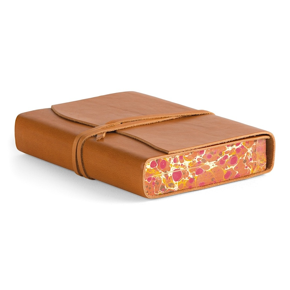 Cavallini Leather Roma Lussa Journal - Tan