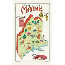 Cavallini Papers & Co., Inc. Cavallini Tea Towel - Maine
