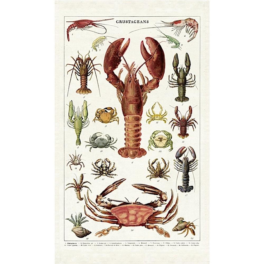 Cavallini Papers & Co., Inc. Cavallini Tea Towel - Crustaceans