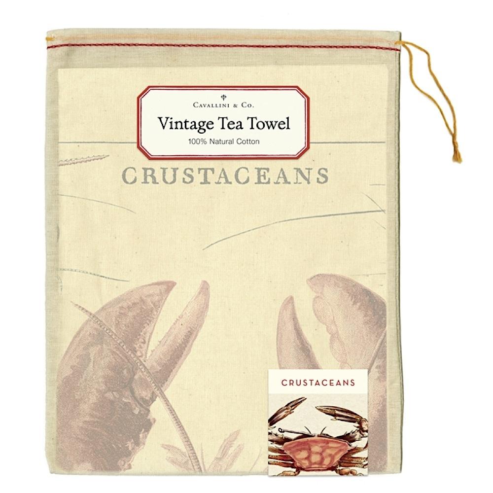 Cavallini Tea Towel - Crustaceans