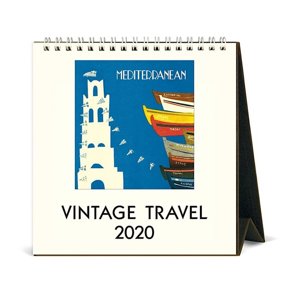 Cavallini Papers & Co., Inc. Cavallini Desk Calendar - Vintage Travel 2020
