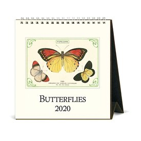 Cavallini Papers & Co., Inc. Cavallini Desk Calendar - Butterflies 2020