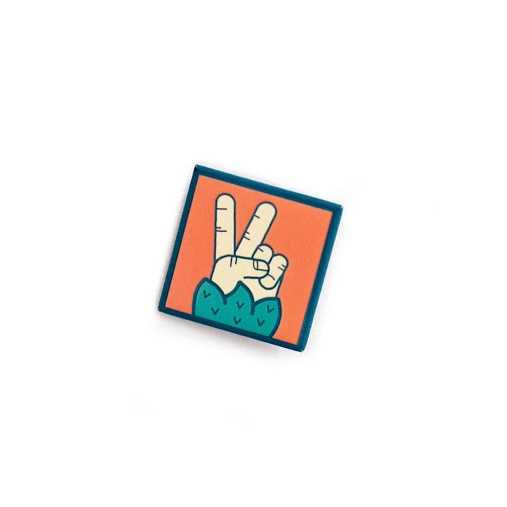 Ello There - Button - Sasquatch Peace Sign