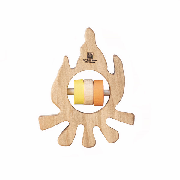 Patriot Baby Patriot Baby Wooden Teething Rattle - Campfire